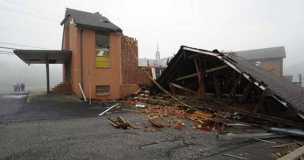 EF-1 tornado with 100 mile-per-hour winds cut 3.3. mile swath through Kimberly  http://t.co/2nuH55y9fV http://t.co/je8xP0nini