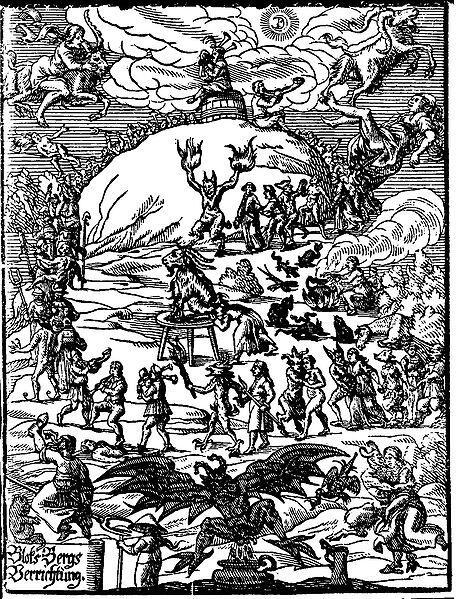 4月30日はヴァルプルギスの夜なので、みなブロッケン山のふもとで山羊を囲み、酒を飲んで踊るように http://t.co/paio1Hslc3