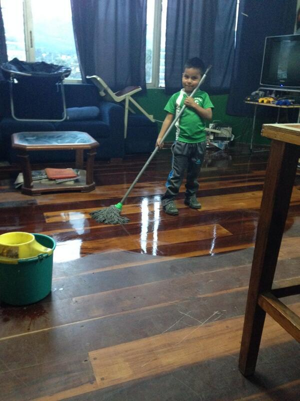 Adorable Mateo helping us clean up for the day http://t.co/xUQCwxqrVz