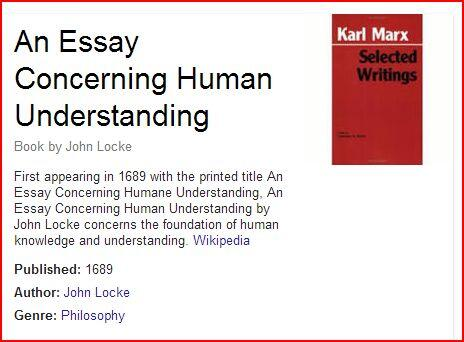 essays on human understanding