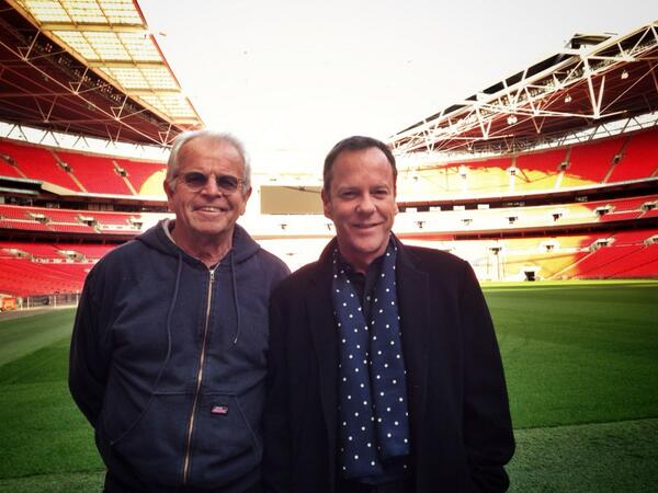 Shooting at Wembley Stadium with William Devane. Pretty Awesome. #24LAD http://t.co/X2gdP8tHGH