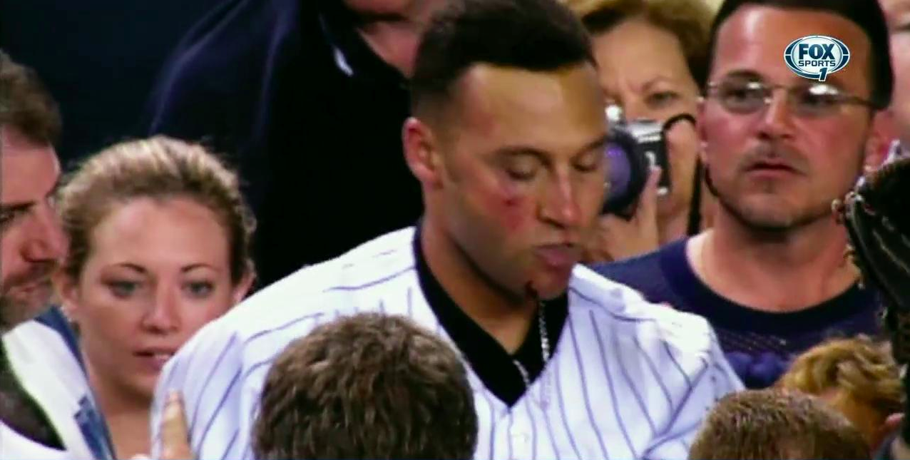 """FS1 on Twitter: """"Diving into the stands. The Derek Jeter way ..."""