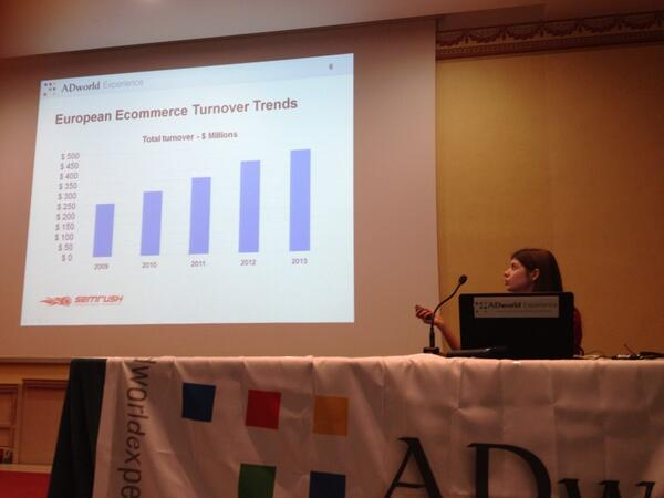 #adwexp @AlexTachalova : european ecommerce turnover trends http://t.co/R5A2YS1XtX