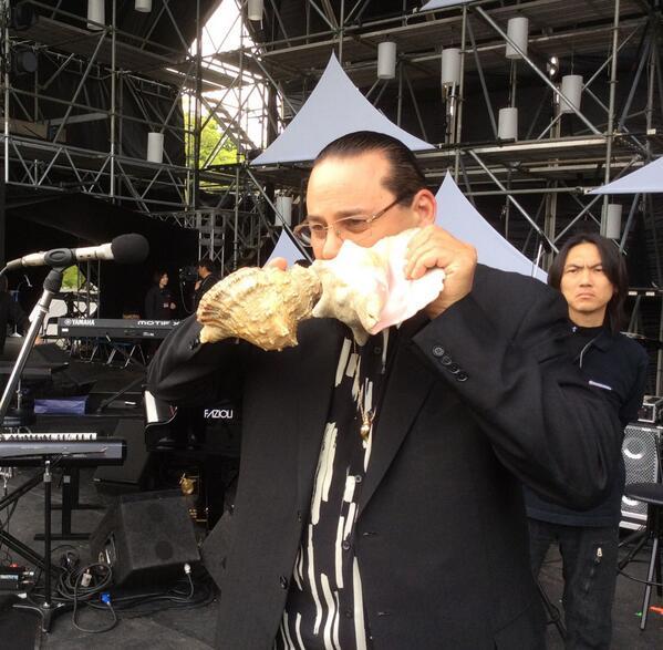 #SteveTurre rehearsing for #Jazzday #webcast Osaka @herbiehancock @EspeSpalding @MarcusMiller959 http://t.co/evfaQu1uQ0