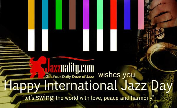Happy @IntlJazzDay guys! Let's SWING the world with love, peace and harmony! http://t.co/qOql2W4qZZ