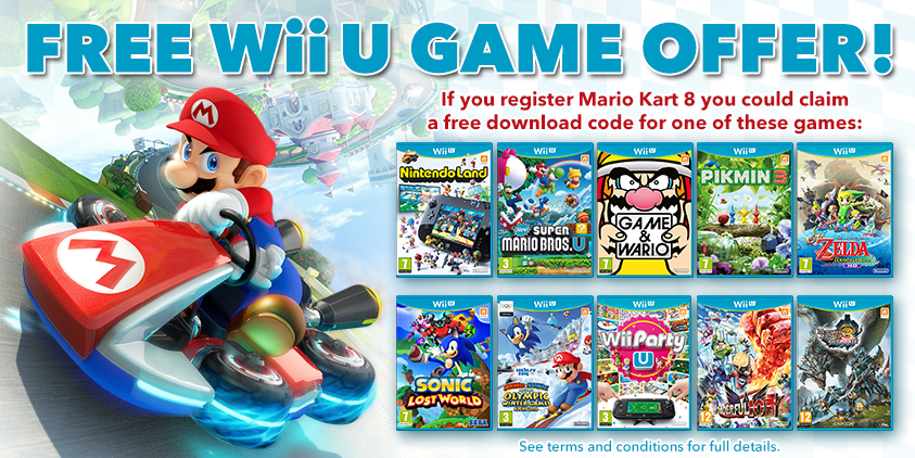 nintendo release new mario kart 8 details comes with free wii u game
