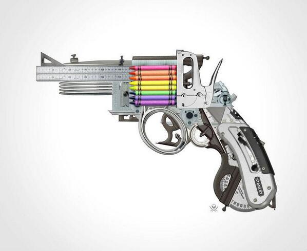 """¡Ánimo diseñadores! utilizad todas vuestras armas #RIPsenoandaluz Pic """"Creative Gun"""" by Mark Fitz http://t.co/Bjn3eXw63k"""