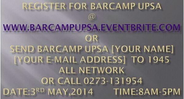 Thumbnail for BarCamp UPSA 2014