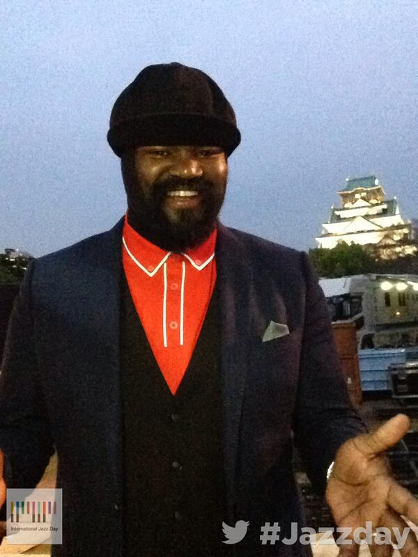 Hi from International Jazz Day Osaka! Watch us live on http://t.co/qfsmr9Jkq8… with Gregory Porter @I_GregoryPorter http://t.co/to6yYVinky