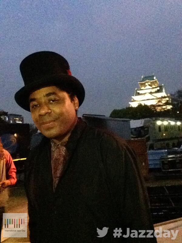Hi from International Jazz Day Osaka! Watch us live on http://t.co/aeM58c0jLB… with Chris Thomas King @ctkmusic http://t.co/6wSHIdi6SW