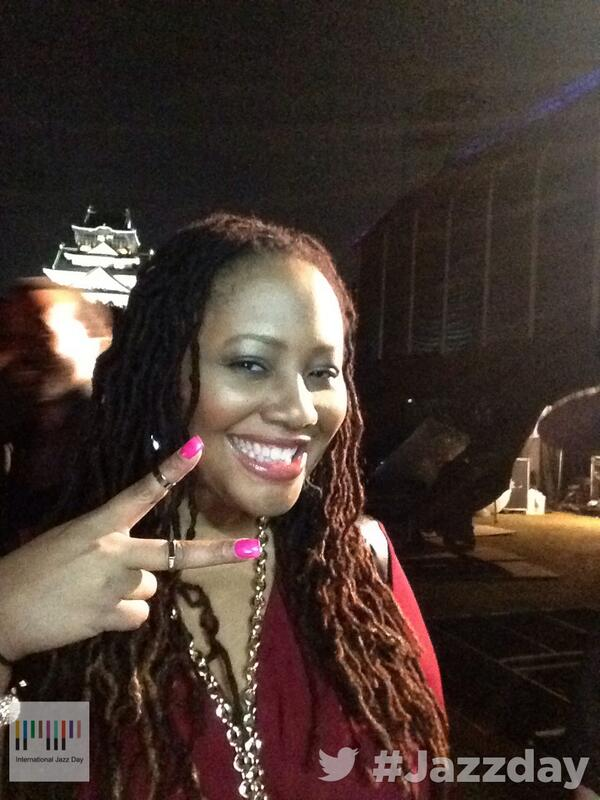 Hi from International Jazz Day Osaka! Watch us live on http://t.co/d1LuzyNRol… with Lalah Hathaway @lalahhathaway http://t.co/fRvNSMyYyh