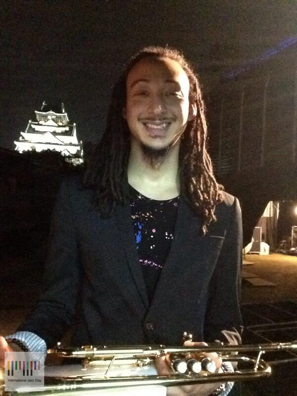Hi from International #JazzDay Osaka! Watch us live on http://t.co/5cH6P148ai with Theo Croker @theocroker http://t.co/RDa3kEIsGW