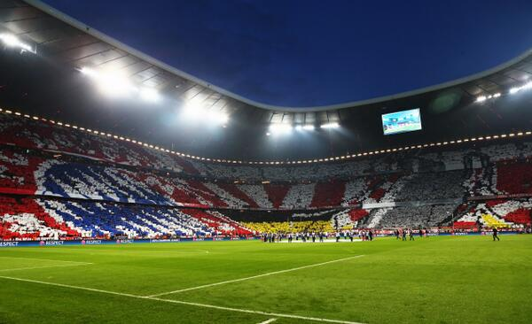 Pic: Bayern's superb pre-match tifo last night