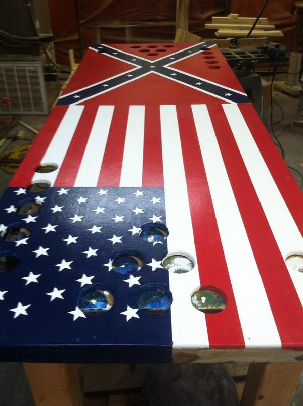 North Angle On Twitter American Flag And Confederate Flag Beer Pong Table Merica