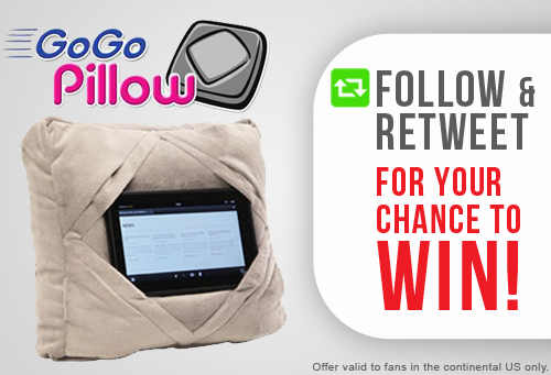#GIVEAWAY! Follow & RT for your chance to win #GOGOPillow - the travel & tablet pillow in one! http://t.co/PBBE3Yl6l8 http://t.co/bSn08GJuPQ