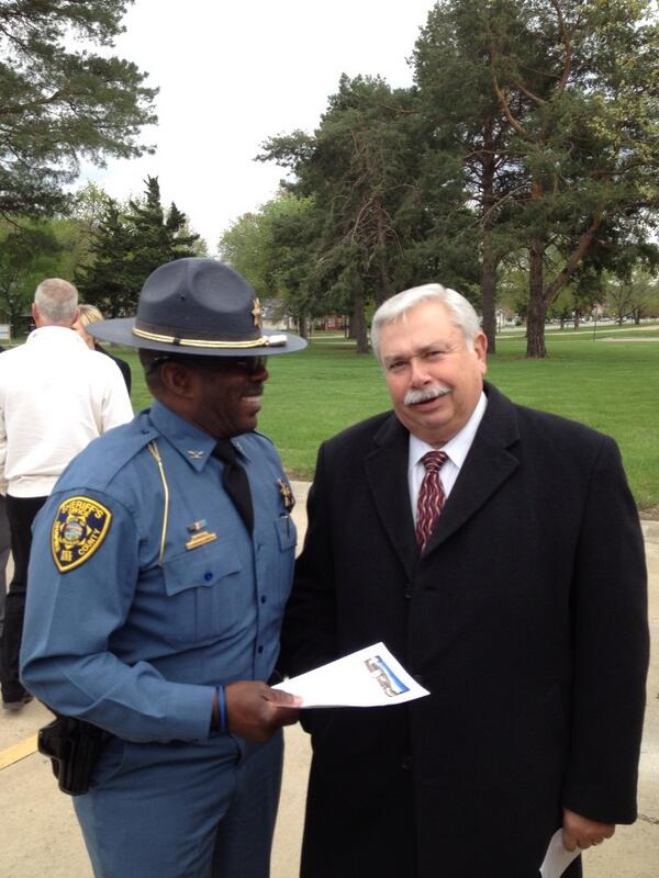Sheriffs Jones & Denning at KBI Crime Lab Groundbreaking. http://t.co/mhZqqPDXPD