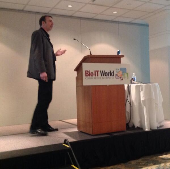 """""""Installing @SwiftStack was so easy, I almost cried."""" - Dirk Petersen speaking at #BioIT14 http://t.co/UtyXzBrdTE"""