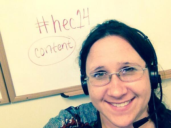 Great presentations today at karine's higher ed content conference! #hec14 http://t.co/bOgB0hSZJV