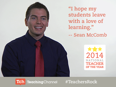 Hooray for @Mr_McComb! The 2014 National Teacher of the Year. http://t.co/R7QYKqSKiG  #NTOY14 #TeachersRock http://t.co/la4UqKvtFT