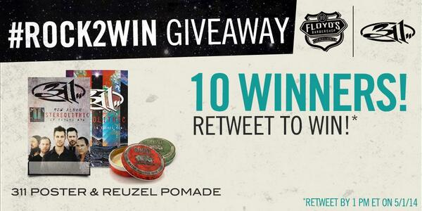 Time to RETWEET! Because @311, @reuzel & #Floyds99 love you... #Rock2Win http://t.co/u7fDfkmepd