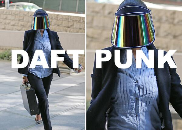 I think V. Stiviano is secretly Daft Punk #daftpunk #vstiviano #nba #clippers http://t.co/rqE7eM5Iji