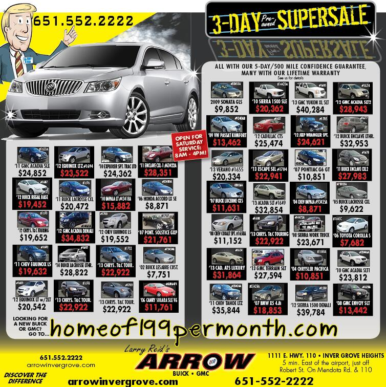 Twitter / ArrowBuickGMC: Check out all the great specials ...