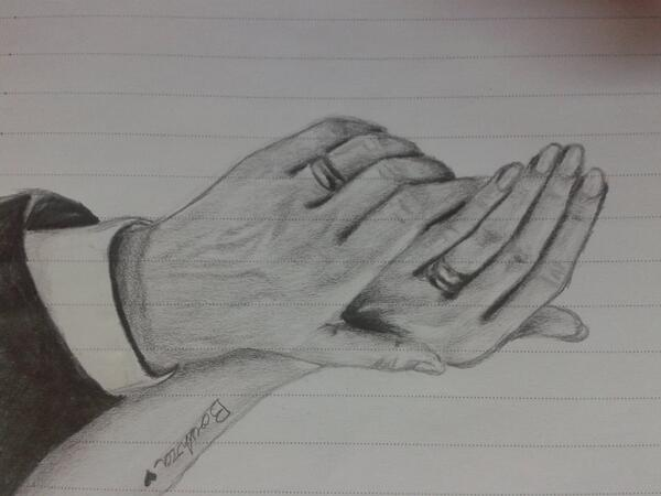 My drawings on Twitter hands wedding rings love girls dream