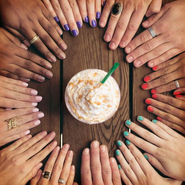 All signs point to #FrappuccinoHappyHour today!  Enjoy all Frappuccinos half off: May 1 – 10, 3pm – 5pm. #letsgo http://t.co/L17PPCv2MT