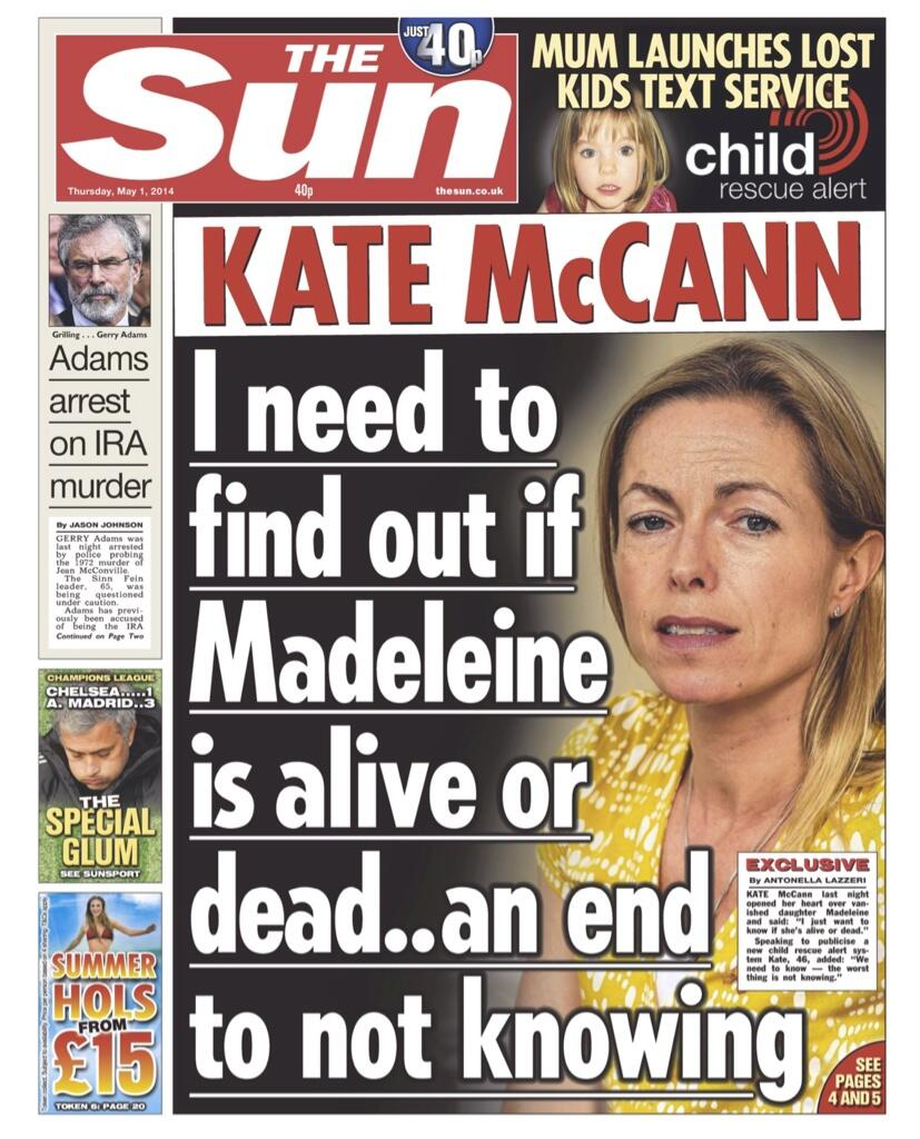 """THE SUN: """"I need to find out if Madeleine is alive or dead...an end to not knowing"""" BmgG8_3IYAAoM2y"""
