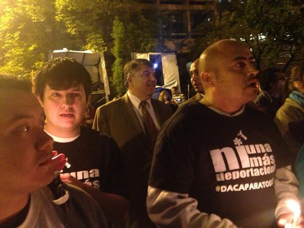 Watching the @AFLCIO light up DC with a message of #not1more deportation http://t.co/TvQeYQRFIj