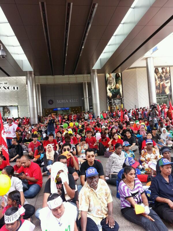 Himpunan Anti- GST Di Dataran Merdeka