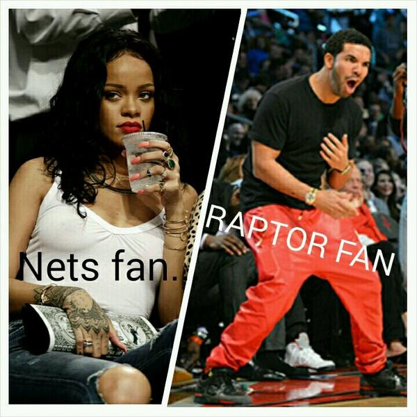 Nets fan vs rap fan. #truth #rtz #nbaplayoffs #raptorsvnets @Raptors @BrooklynNets @NBA http://t.co/V1s2w0EoYO