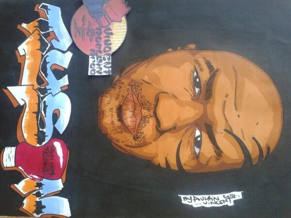 My last drawing for a Biggest legend, @MikeTyson by a French artist @Vincenthury
