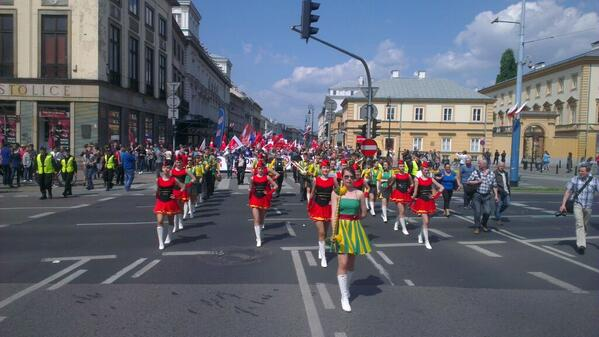 Socialdemocrat #mayday demo in Warsaw #1maja #NotKidding http://t.co/9e3t2TTfhf