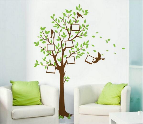 """wall sticker murah on twitter: """"wall sticker pohon bingkai uk. 60 x"""