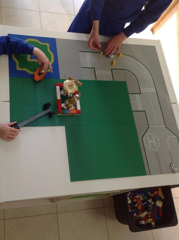 John Breslin على تويتر The Ikea Trofast Lego Table I Made