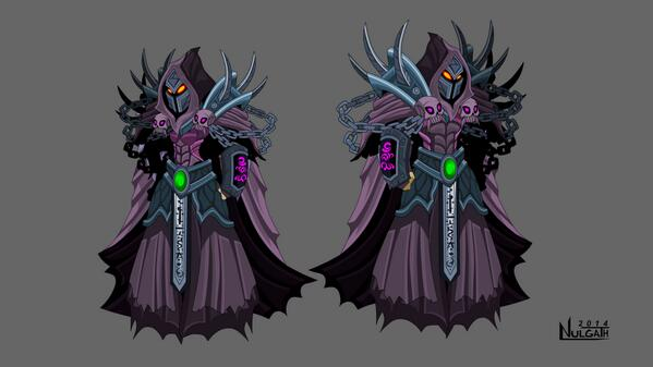 Evolved Escherion Armor coming to AQW as well! Been a busy week! It's pretty fun to update my old art though. http://t.co/z5ZI8IoZGv