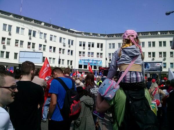 #1maja 'Chcemy Europy socjalnej' #warszawa http://t.co/5egLMSmNpJ