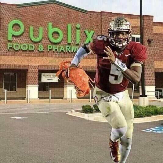Check out @Jaboowins JAMEIS Winston video footage of him running from Super Market with Crab Legs @RickeySmiley http://t.co/S9E1o5R4Oq