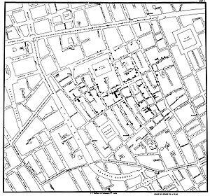 Dr. Snow map - DataScience in the time of Cholera