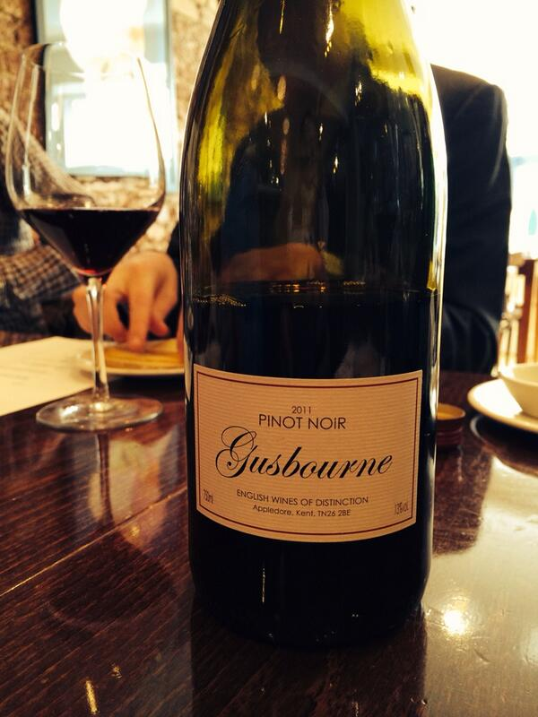 English Pinot noir from @gusbourne estate really rather good http://t.co/eIr2cUcjve