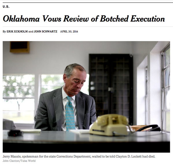 How appalling is this staged Oklahoma photo op? If executing people makes your heart heavy, DON'T EXECUTE PEOPLE http://t.co/5bQmZ03T20