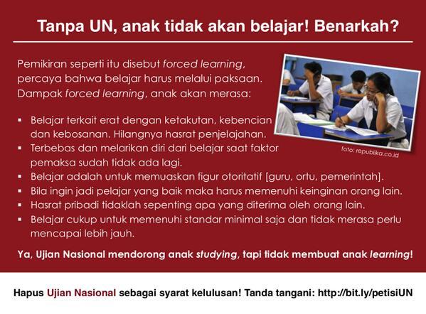 Semoga penguasa pendidikan berikutnya tidak bermazhab forced learning… *doa jelang hardiknas* http://t.co/JtteU4IJMV