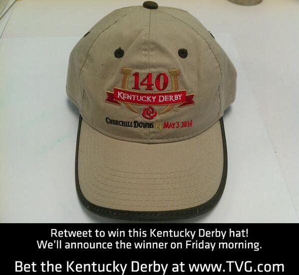 Contest time! Retweet for a chance to win this #KYDerby hat! You can bet the Kentucky Derby at http://t.co/bojUPPP6gK http://t.co/pGo4eWZdlT