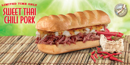 Enjoy a FREE combo when you try our new Sweet Thai Chili Pork Sub!  Offer--> http://t.co/4Bz6kqVffk http://t.co/Gr7Ev8dMQZ