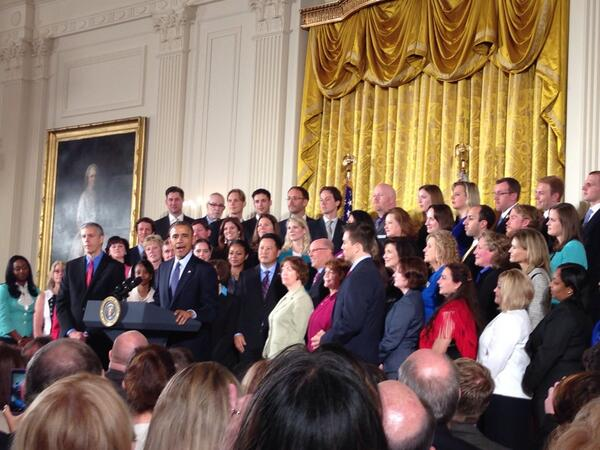 Can't say enough how important #teachers are in making sure America succeeds - @BarackObama #NTOY14  #ThankATeacher http://t.co/f8sJvYhcKq