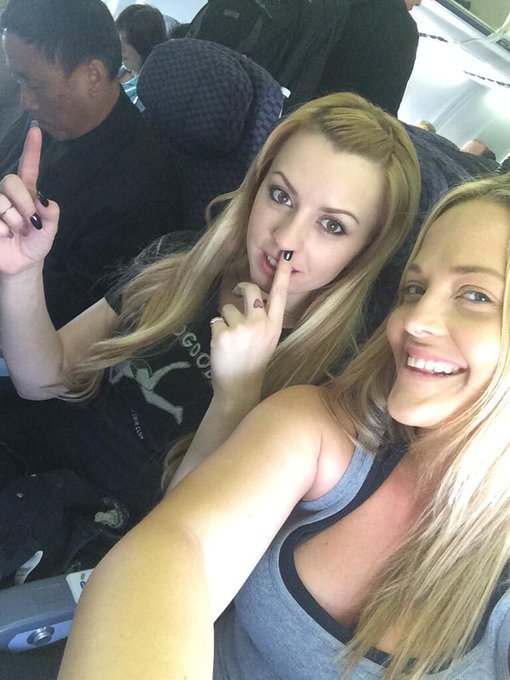 Off to ft lauderdale w/ my Lexi butt @OMGitsLexi I'm pretty sure this man is going 2 hate us after this