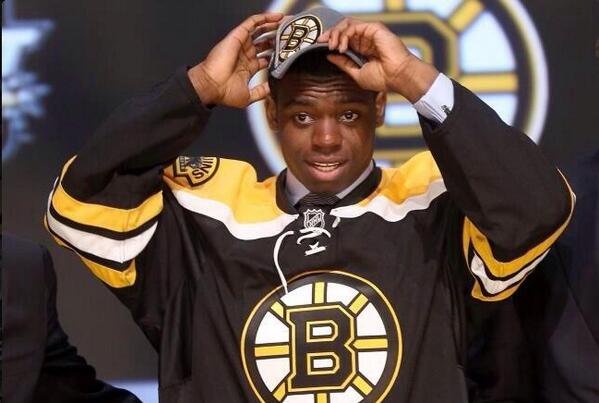 Dear Jerk #Bruins fans tweeting awful things to PK Subban, slap yourself as you see this: you drafted his bro Malcolm http://t.co/bviHiaNT5E