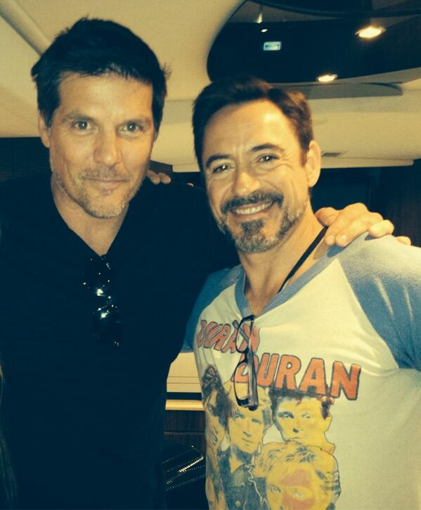 Photo of Paul Johansson & his friend  Robert Downey Jr.