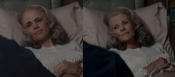 All the vfx work in WS was amazing, but thought in particular digi makeup fx by Lola for Peggy was just stunning. http://t.co/MUAJn61cBY